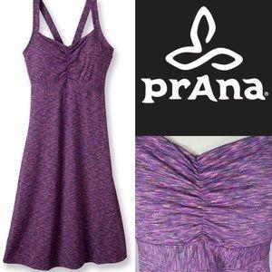 Prana purple space dye dress XS shelf bra